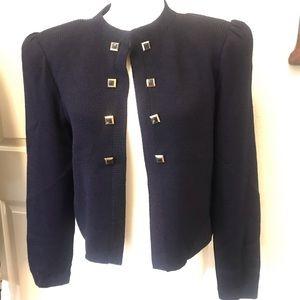 Vintage St John by Marie Gray Navy Sweater Jacket